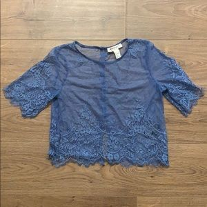 Sheer blue blouse